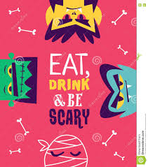 funny invitation flyer for halloween party vector stock vector