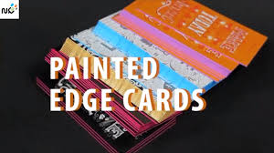 Business Cards Painting Edge Painted Business Cards Edge Color Painting Youtube