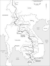 Asia Rivers Map by Greater Mekong Subregion Cartogis Services Maps Online Anu