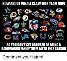 Nfl Bandwagon Memes - the bandwagon fan 30 wilson starter pack don t forget to pick up