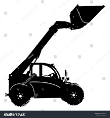 jeep off road silhouette silhouette heavy loaders ladle illustration stock illustration