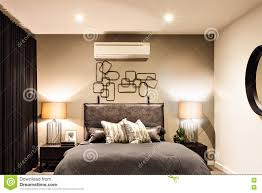 Air Conditioner For Living Room by Modern Bedroom With Air Conditioner In A Luxury House Stock Photo