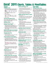 excel 2011 for mac charts tables u0026 pivottables quick reference