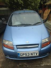 daewoo kalos extra 5dr hatchback sky blue short mot good runner