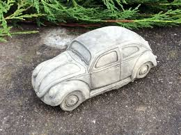 vw car garden ornament volkswagen beetle bug herbie