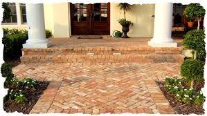Herringbone Brick Patio Walkways U0026 Patios Clay Brick Pavers Travertine