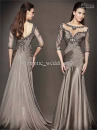 formal gowns 2016 gorgeous 3 4 sleeves mermaid prom dress beaded