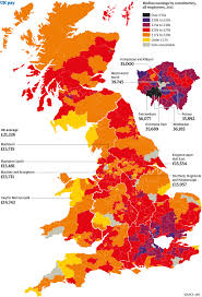 Greenwich England Map by Wages Throughout The Country How Does Your Area Compare News