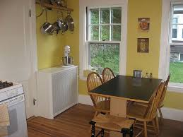 yellow and red country kitchen with small kitchen designs in