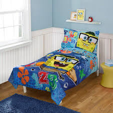 Spongebob Bedding Sets Nickelodeon Spongebob Squarepants 4 Pc Toddler Bed Set Walmart