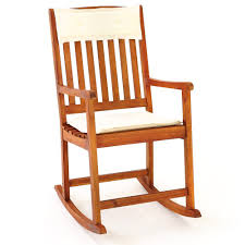 Nursing Rocking Chair Wooden Rocking Chair Traditional Rocking Armchair Tropical Exotic