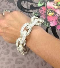 crystal link bracelet images Pave crystal link bracelet silver pynk luxe jpg