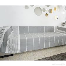 plaid coton canapé jeté de canapé plaid canape grande taille gris clair greige é
