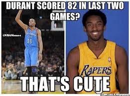 Kevin Durant Memes - kobe bryant vs kevin durant http weheartnyknicks com nba