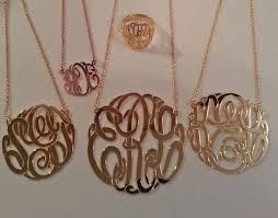 2 inch monogram necklace big slim gold monogram necklace 1 5 8 inch purple mermaid