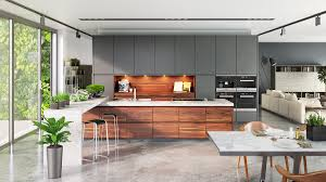 interior designing kitchen kitchens interior cool grey and warm wood kitchen concrete floor