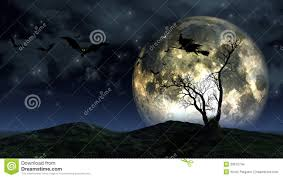 halloween background moon halloween landscape stock images image 33612744