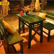 Tables And Chairs Wholesale Mediterranean Fast Food Furniture Wood Retro Dinette Tables And