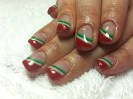 simple christmas gel nails google search get one nail like this