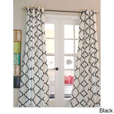 Victoria Classics Curtains Grommet by Overstock Exclusive Morocco Flocked Faux Silk Grommet Top 96 Inch