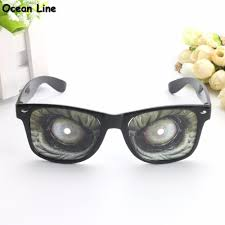 2017 funny monster eye shaped novelty costume glasses mask for