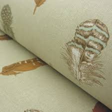 cotton fabric feather print