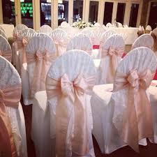 blush chair sashes wedding ideas chair covers