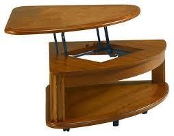corner wedge lift top coffee table pie shaped lift top coffee table foter attractive wedge 8 remodeling