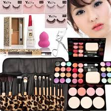 bridal makeup set a set of makeup tool with eyebrow eyeshadow eyelash blush