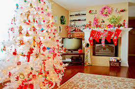 white tree decorations hd wallpaper of