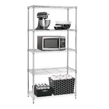 Wire Shelving Desk Adjustable 5 Tier Wire Shelving Unit Chrome Room Essentials