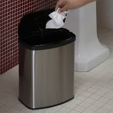 stainless steel accessory bathroom garbage can inspiration home