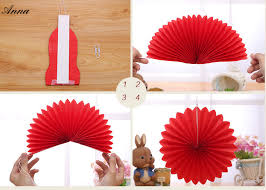 cheap paper fans 14inch 35cm cheap paper fans for wedding tissue paper fans flowers