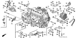 1999 honda civic engine honda civic 2 door si ka 5mt alternator bracket engine stiffener