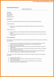 Sample Resume For Medical Laboratory Technician by Resume Sample For Medical Lab Assistant Cover Letter Lab