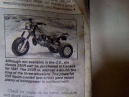 3wheeler world the hunt for the legendary 1987 atc u0027s continues