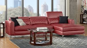 Living Room Sets Living Room Suites  Furniture Collections - Red leather living room set