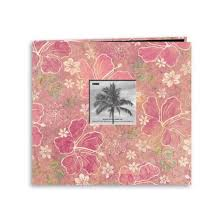 tropical photo album tropical post bound album with window pink floral 12x12 target