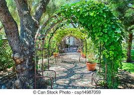 Garden With Trellis Stock Images Of Garden With Overhead Arbor Garden Walkway With