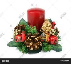 christmas candle ornament on white image u0026 photo bigstock