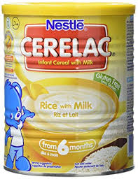 Nestlé CERELAC Rice with Milk Infant Cereal 400g 6 months Pack of
