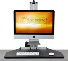 Sit Stand Desk Converter by Electric Mymac Kangaroo Pro Adjustable Height Desk Converter Sit