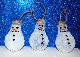 snowman lightbulb ornament easy craft