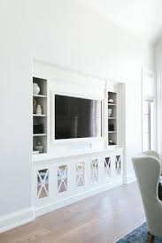 livingroom cabinets chic living room nook is filled with a flat panel tv niche flanked
