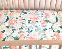 crib sheet pink peony fitted crib sheet floral crib sheet
