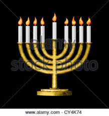 hanukkah candles hanukkah menorah with burning candles on the white wooden table top