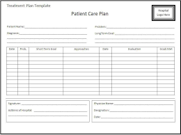 treatment plan template 12 treatment plan templates free sample