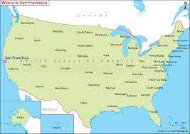 san francisco map of usa where is san francisco where is san francisco ca located in the us