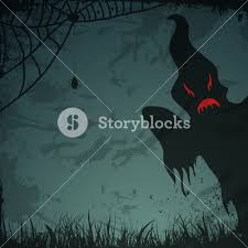 background halloween image banner or background for halloween party night with scary ghost