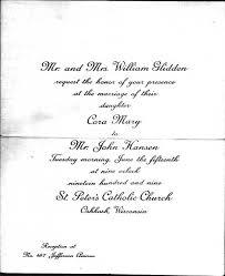 Catholic Wedding Invitation Documents On Glidden Family